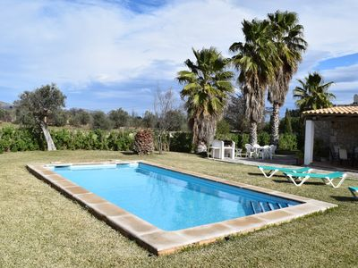 Photo for Rental with WIFI, private pool, in a quiet residential area near Pollenca