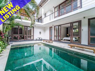 Photo for Joy, 3 Bedroom Villa, A/C living area, private gated compound, near Seminyak