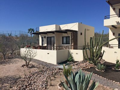 Photo for Air conditioned casita, with stunning view across Bay of La Paz