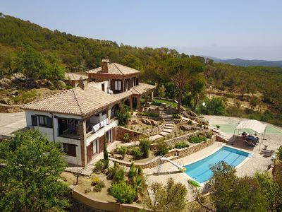 Arial view of private villa