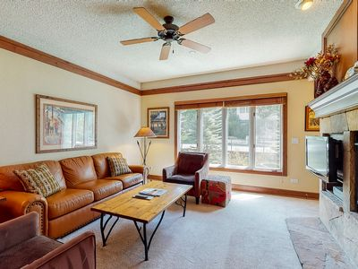 Photo for Beautiful mountain retreat w/ shared pools/hot tub/game room + near lifts!