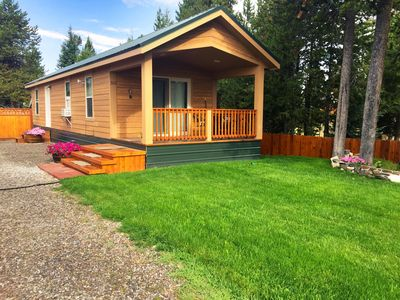 Photo for Alpine West Cabin - Town convenience in quiet neighborhood, covered porch, nice!