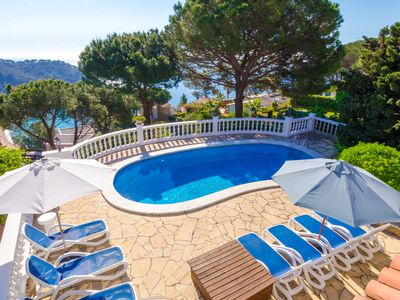 Photo for Club Villamar - Typical Spanish villa with private pool and precious sea views, located at only 5...