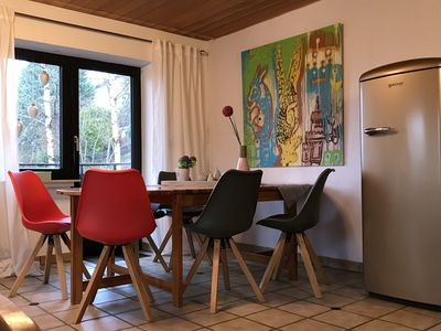 Photo for Beautiful apartment ELSA on Langenberg invites you to relax by the fireplace