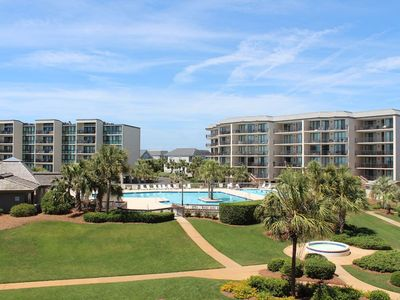 Photo for Beautifully Furnished 1st Floor B16 Shipyard Village.  Corner Unit with Easy Beach Access