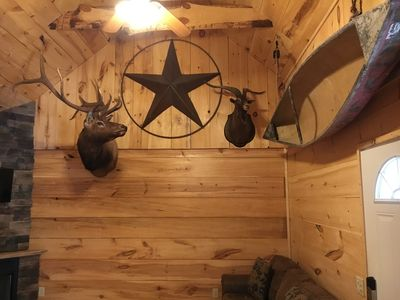 Photo for Cable TV! LoneStar Lodge.. CabinsatBranson Private 1 Bedroom Cabin!