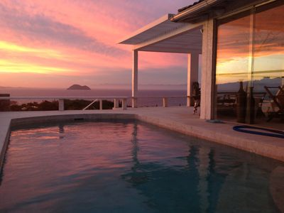 Photo for House on the Ocean Front with Spectacular Sunset - Spa and Private Pool 6Suite