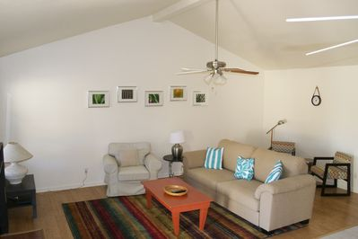great room with ample seating and comfortable queen size sleeper sofa