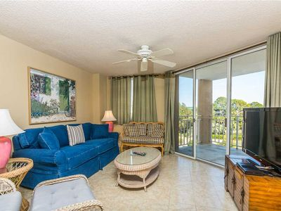 Photo for Oceanfront Condominium with Partial Ocean View! Private Boardwalk to the Beach, Pool.