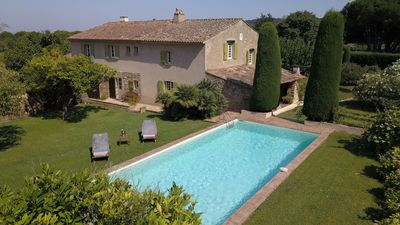 Photo for Authentic 19th century bastide 10 minutes from Pampelonne and 15 minutes from St Tropez