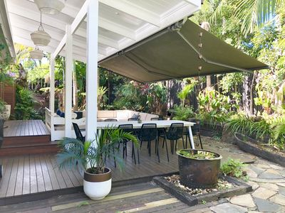 Photo for LUXURY GARDEN BEACH HOUSE RIGHT IN BYRON TOWN - Walk to Shops, Beach, Bars
