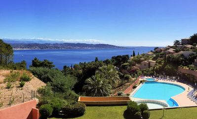 Photo for Superb sea view air-conditioned apartment on the French Riviera