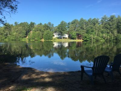 Photo for Clear Pond Suite, a peaceful Pond front studio apartment that sleeps 4 guests.