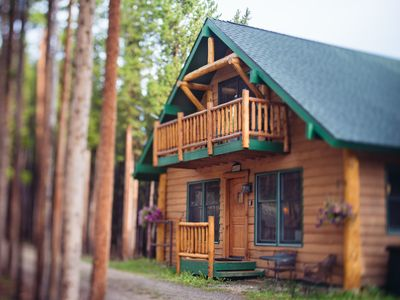 The cabin in summer