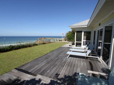 Photo for NEW LISTING, Yellow House, Gulf Front, Seagrove Beach, Available Aug 18-26!