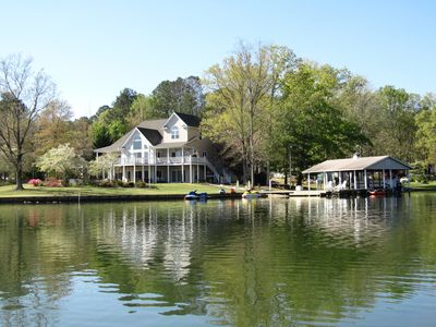 Photo for Spectacular 5 Bedroom Lake Gaston Home on Large Sheltered Cove