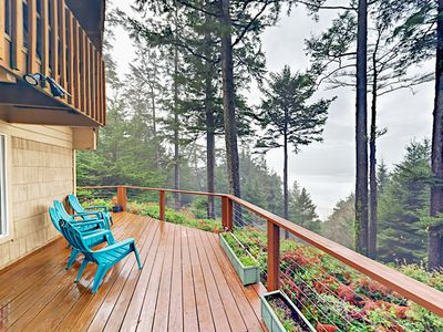 Photo for Relax & Reboot: Oregon Coast Getaway w/ Wraparound Deck & Ocean Views!