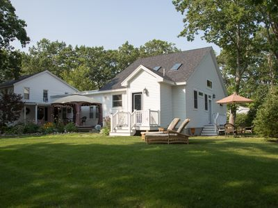 Photo for 5 MIN WALK TO SHORT SANDS YET PRIVATE W/LARGE YARD, OFF FREEEMAN.  2 HOUSES IN 1