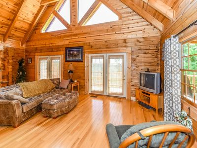 Photo for Spectacular Mountain Views- Secluded- Peaceful Decks w/ Rockers- Fire Pit