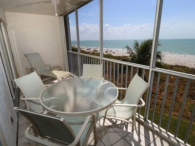 Photo for Nicely Appointed Two Bedroom with Direct Beach Front Views! Sanibel Surfside 134