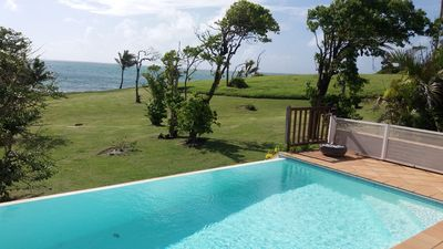Photo for Beautiful property in an exceptional site, swimming pool, by the sea