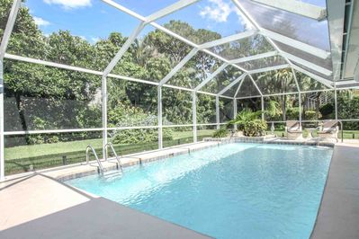 Gorgeous & private heated outdoor pool is truly a vacation oasis!