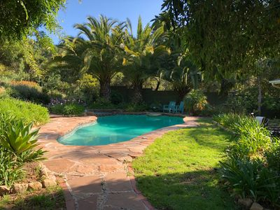 Photo for Montecito home with heated pool and hot tub in quite neighborhood.