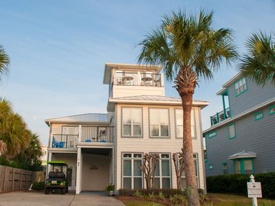 Photo for NEWLY RENOVATED! 5BR Beach House in DESTIN - Walk to Beach! Golf Cart Included!