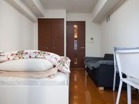 The apartment is nice. Everything is provided. It is not expensive and big enough for two guests.