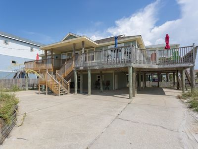 Photo for Stunning Gulf View Home just steps to the Gulf. Large deck for entertaining!