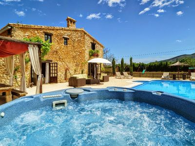 Photo for LUXURY STONE VILLA ,HUGE GARDEN, FANTASTIC VIEWS, POOL, VOLLEY/FOOTBALL ,SLIDE,