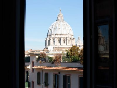 Photo for 500m from VATICAN - wonderful apartment overlooking the dome of St. Peter