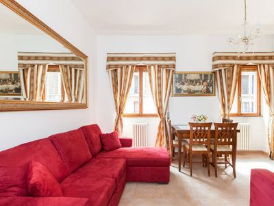 Photo for Navona Central Quiet Flat-AC-WiFi-60 sqm- Private street- historic center