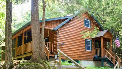 Photo for Spectacular Log Home with Private Lake Access