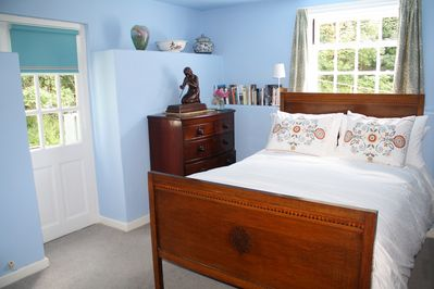 The bedroom with vintage furniture