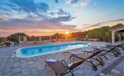 Photo for New Villa Rogoznica offers Large Private Yard with Swimming Pool and Sea Views
