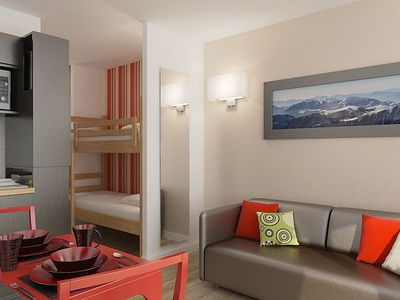 Photo for Apartment Le New Chastillon in Isola 2000 - 4 persons, 1 bedrooms