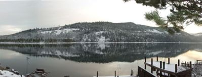Panoramic view of Donner Lake from the upper deck