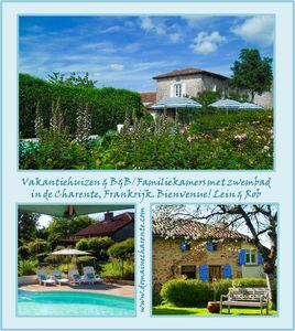 Photo for * Charente Cottage, with pool use, for a romantic holiday!