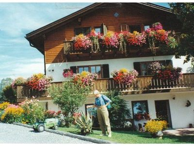 Photo for Apartment in the middle of the Ammergau Alps with terrace and private entrance