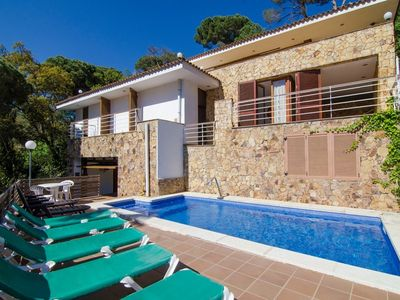 Photo for Club Villamar - Detached villa nearLloret de Mar with wonderful swimming pool and beautiful view,...