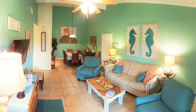 Photo for Just steps to the Beach & Pool, Private Balcony, Free Wifi, 2B/2B