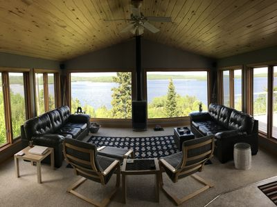 Photo for Modern mountain top cabin.  Amazing lake views. Remote & private w/lake access.