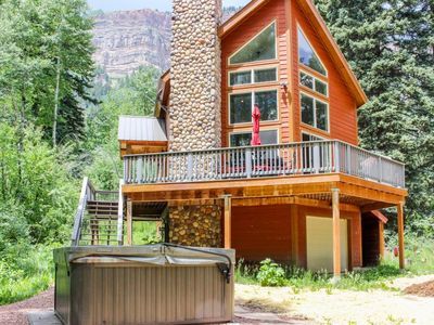 Photo for Secluded Cabin on 1 Acre - Hot Tub, Fire Pit, Ping Pong and Deck with Views