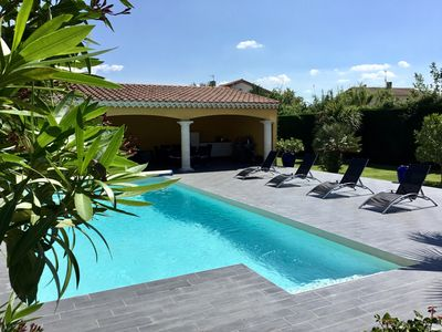 Photo for Beautiful Villa in a quiet setting not overlooked private pool, free internet
