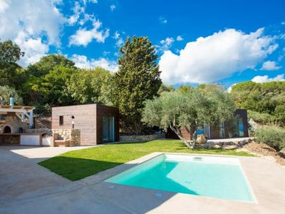 Photo for Chic villa with mediterranean garden, private pool and great sea views