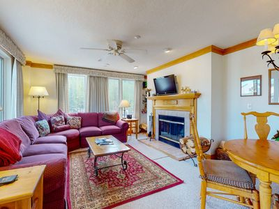 Photo for Charming condo w/ WiFi, wood-burning fireplace, and shared pool and hot tubs!