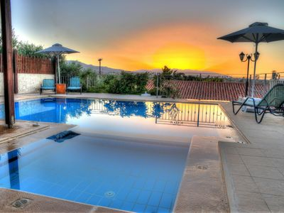 Photo for Beautiful villa with swimming pool, privacy just 5 minutes drive to the beach