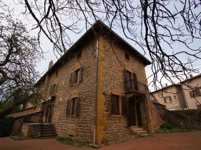 Photo for Rent gilded stone house in Sarcey in Beaujolais 12 places