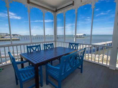 Photo for Gorgeous Bay front Home w/ Beach, Pool & Fishing Dock Access